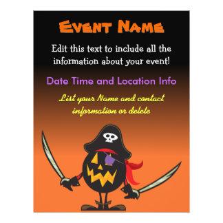 Custom Event Halloween Pirate Pumpkin 21.5 Cm X 28 Cm Flyer