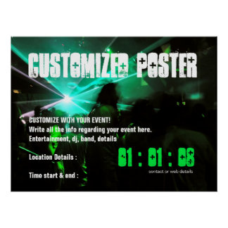 Custom EVENT Party Poster