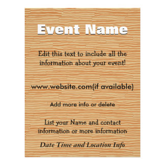 Custom Event Pine Wood Flyer