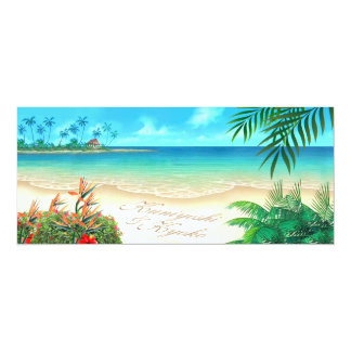 CUSTOM Exotic Beach ASK ME 2 DRAW NAMES IN SAND Personalized Announcement