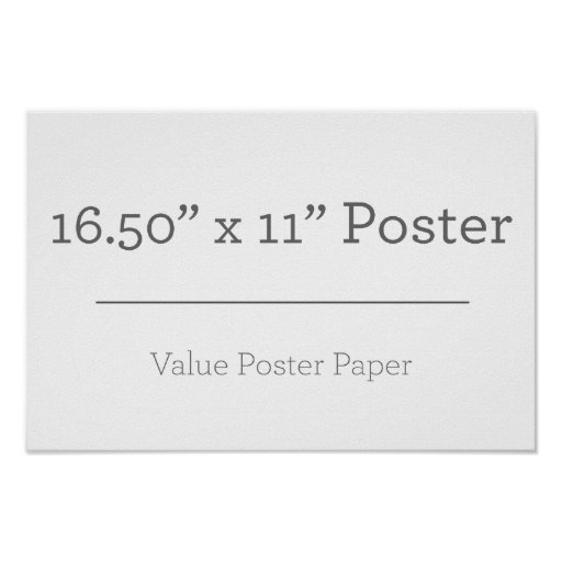 Extra Small (41.91cm x 27.94cm), Value Poster Paper (Matte)