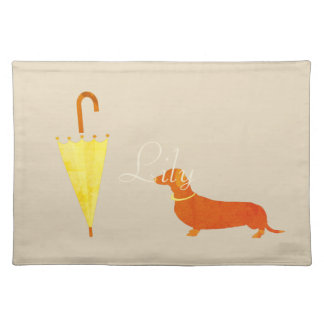 Custom Fall Collection Dog Pet Lover Placemat