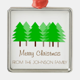 Custom FAMILY Merry Christmas Trees Ornament