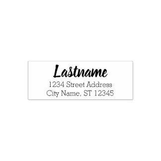 Custom Family Name and Return Address - Beloved Self-inking Stamp