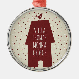 Custom family names Christmas ornament