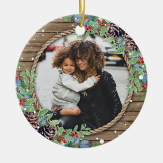 Custom Family Photo Christmas Holiday Christmas Ornament