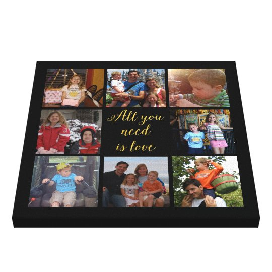 "Custom family photo collage ""All you need is"