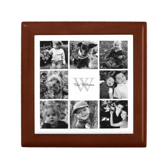 Custom Family Photo Collage Gift Box