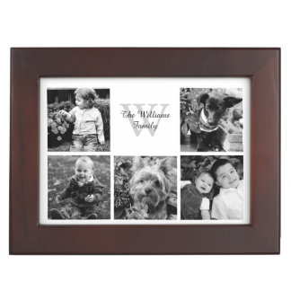 Custom Family Photo Collage Keepsake Box