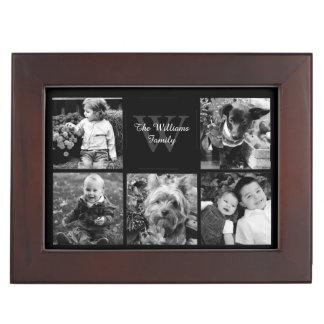 Custom Family Photo Collage Keepsake Box