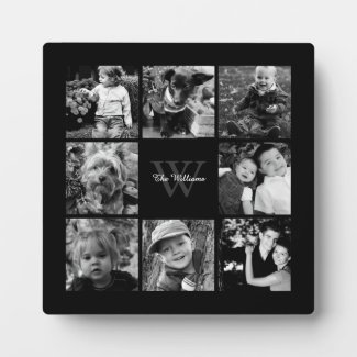 Family Photo Collage Plaque