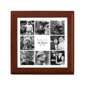 Custom Family Photo Collage Small Square Gift Box