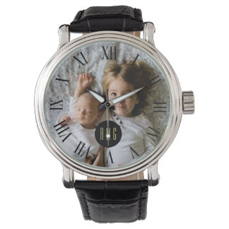 Custom Family Photo | Monogram | Roman Numeral Watch