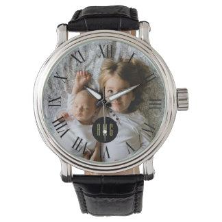 Custom Family Photo | Monogram | Roman Numeral Watch
