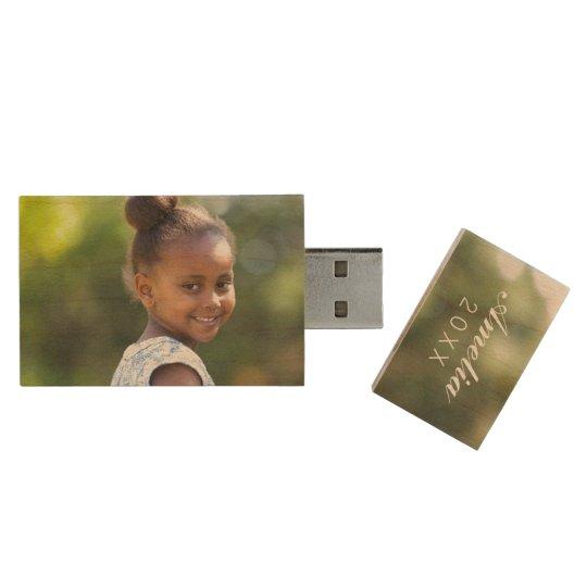 Custom Family Photo Monogram USB Flash Drive