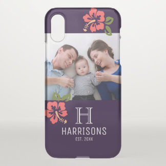 Custom Family Photo | Name and Monogram | Floral iPhone X Case