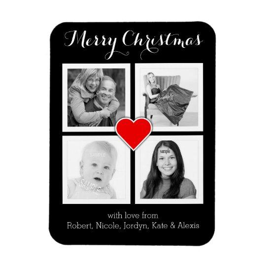 Custom Family Photos Merry Christmas Magnet