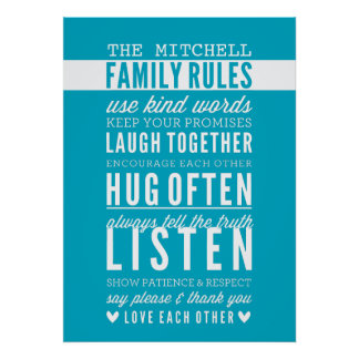Browse our Collection of Family Posters and personalise by colour, design or style.