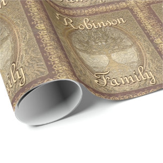 Custom Family Tree Wrapping Paper