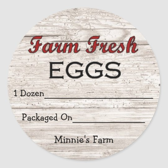 Custom Farm Fresh Eggs Sticker