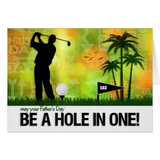 Custom Father's Day | Hole in One Golf Theme Greeting Card