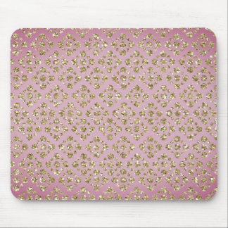 Custom Faux Glitter Gold Dots Mauve Mousepad