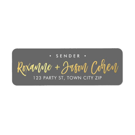 CUSTOM faux gold foil script names grey +
