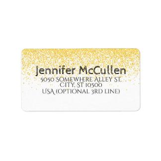 Custom Faux Gold Glitter Address Mailing Labels