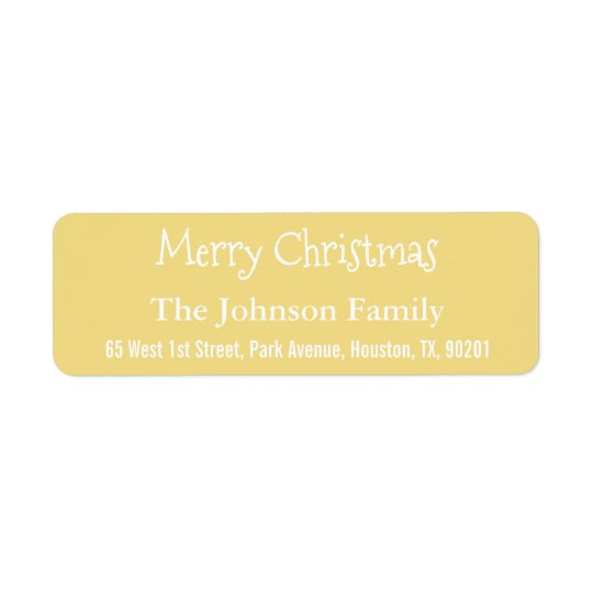 Custom Faux Gold Merry Christmas Return Address