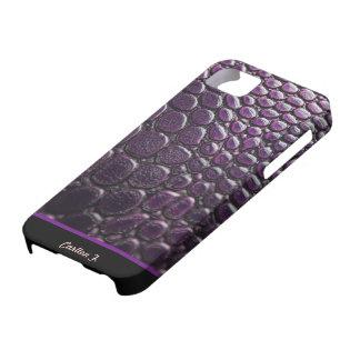 Custom Faux Purple Snake Skin Case