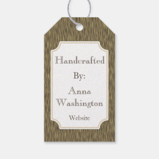 Custom Faux Wood Handcrafted Artist Gift Tag