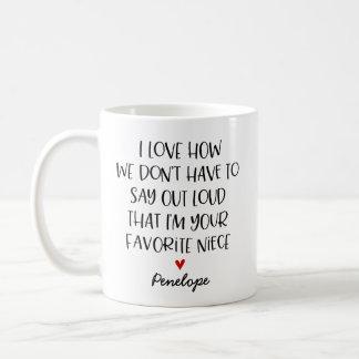 Custom Favorite Niece Coffee Mug