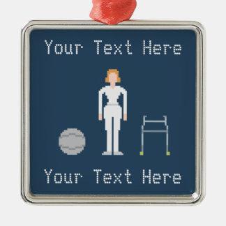 Custom Female Physical Therapy Christmas Ornament