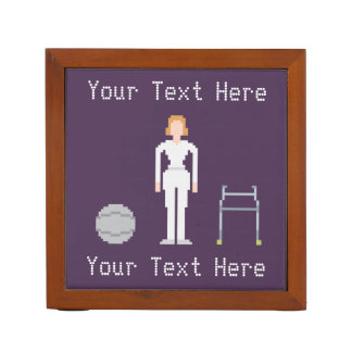 Custom Female Physiotherapy 8Bit Style Pencil/Pen Holder