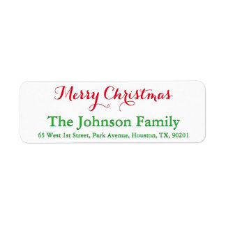 Custom Festive Red Green Script Merry Christmas