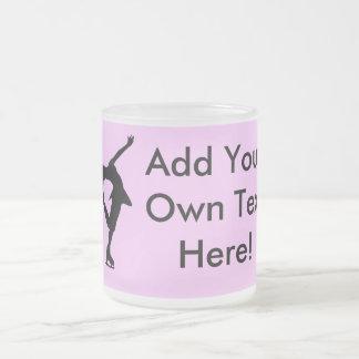 Custom Figure Skater Gifts Frosted Glass Mug