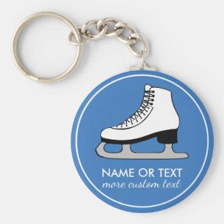 Custom Figure Skating Team Skater Name Basic Round Button Key Ring