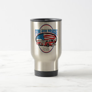 Custom Fire and Rescue Stainless Steel Travel Mug