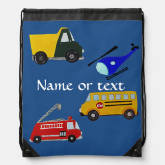 Custom fire, sand truck, school bus, helicopter backpack