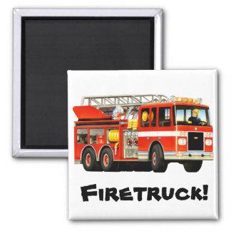 Custom Fire Truck Magnet