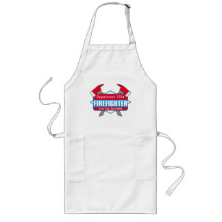 Custom Firefighter with Axes Long Apron