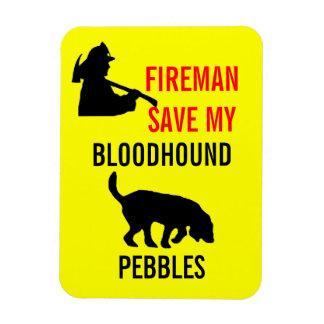 Custom Fireman Save My Bloodhound Fire Safety Magnet