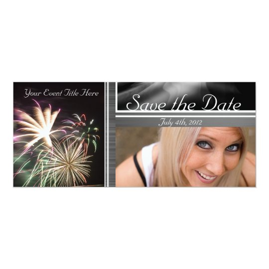 Custom Fireworks Save the Date Card