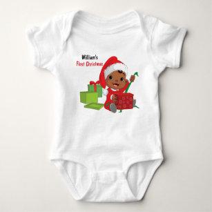 Custom First Christmas Baby Bodysuit