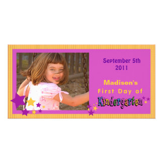 Custom First Day of Kindergarten Personalized Photo Greeting Card