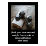 Custom Fitness Quote Personal Trainer Gym Poster