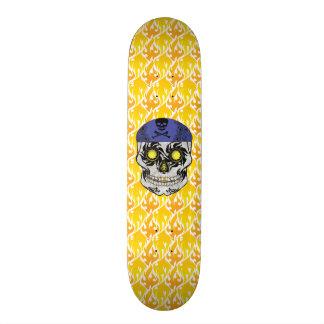 Custom Flames Motorcycle Candy Skull Deck Skateboard Deck