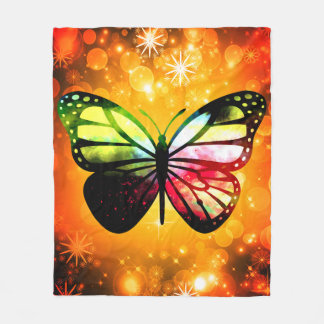Custom Fleece Blanket, Medium - ButterFly