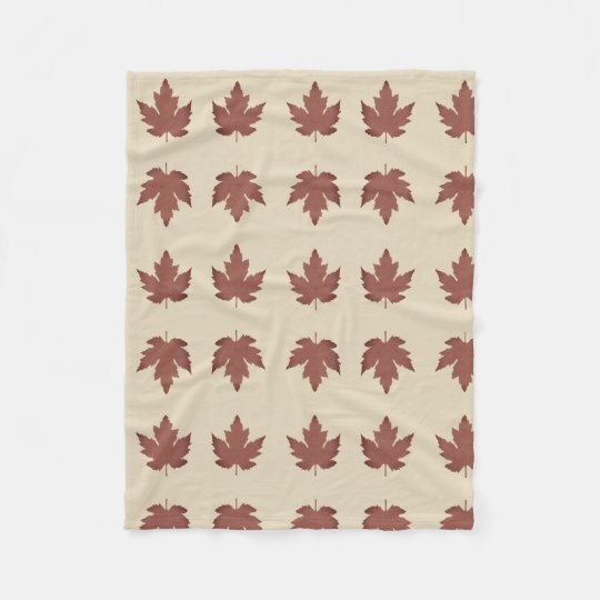 Custom Fleece Blanket, Medium with Maple Leaves
