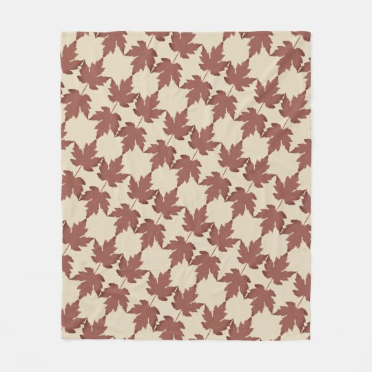 Custom Fleece Blanket, Medium with Maple Leaves